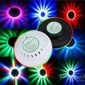 Wholesale DHL 8W RGB LED Light RGB Sunflower LED Stage Light LED Party decoration light 90-260V EU or US Plug retail package