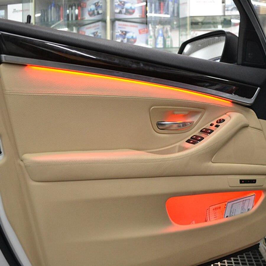 Mason 3 couleurs led lumières ambiantes pour BMW F10/F11 voiture intérieur décoratif led rayures atmosphère lampes mise à niveau