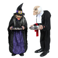 Halloween Housekeeper Witch Ghost Toys Electric Toys Horror Voice Creative Halloweeen Toys Horror Props Haunted House Decor