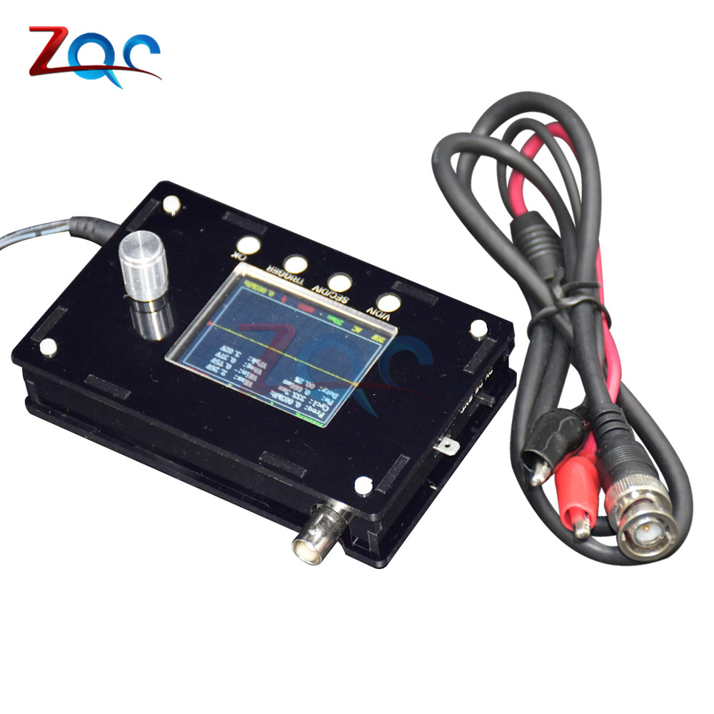 DC 9V DSO328 Mini Digital Handheld Oscilloscope Tester 1MSPS 2.4 TFT LCD Atmega328p STM32 12 Bit Probe BNC Exceed DSO138 DSO311