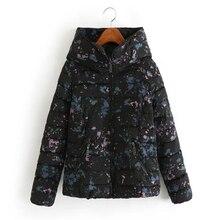 2016 Новый Женщины Хлопок Куртка короткая Верхняя Одежда толстые теплые Вниз хлопка пальто Карман на молнии пальто