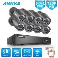 ANNKE 8CH безопасности Камера Системы 720 P 5IN1 видеорегистратор переупоряд 8 шт. HD 720 P наружного видеонаблюдения Камера видеонаблюдения системы 1