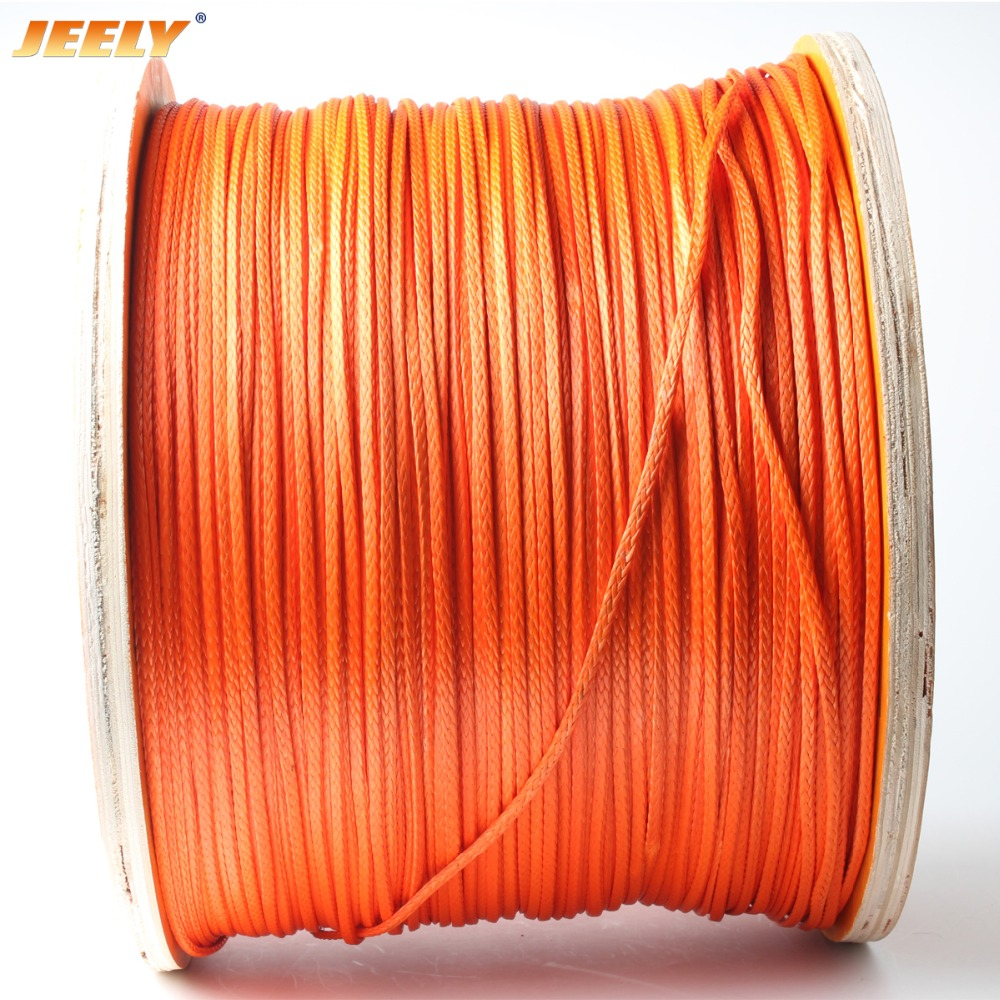 Free Shipping 12 Weaves 3mm 2000lb 50m Paraglider Winch Rope UHMWPE Braided