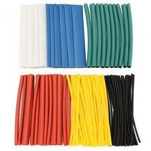 100 шт. 2:1 термоусадочные трубки Провода кабель трубки для Обёрточная бумага Провода комплект трубки рукава Ассорти галогенов sleeving трубы