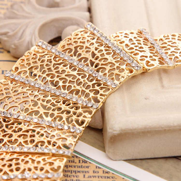 ZOSHI 2019 Delle Donne di Modo Dell'oro di Colore set di gioielli Dichiarazione Hollow Collana girocollo Orecchini con perno Delle Donne Set di Gioielli Da Sposa