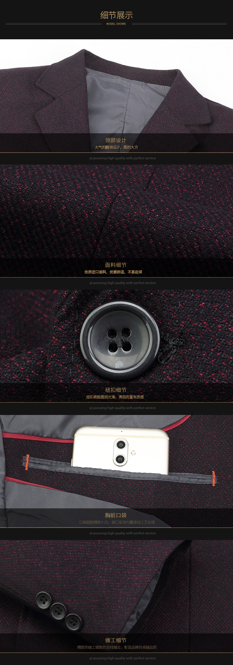 WEAOLSA Father Blazer Blue Red Suit Coat Middle Aged Men Casual Blazers Male Outfits Man Single Breasted Blazers Mature Men Apparel (1)
