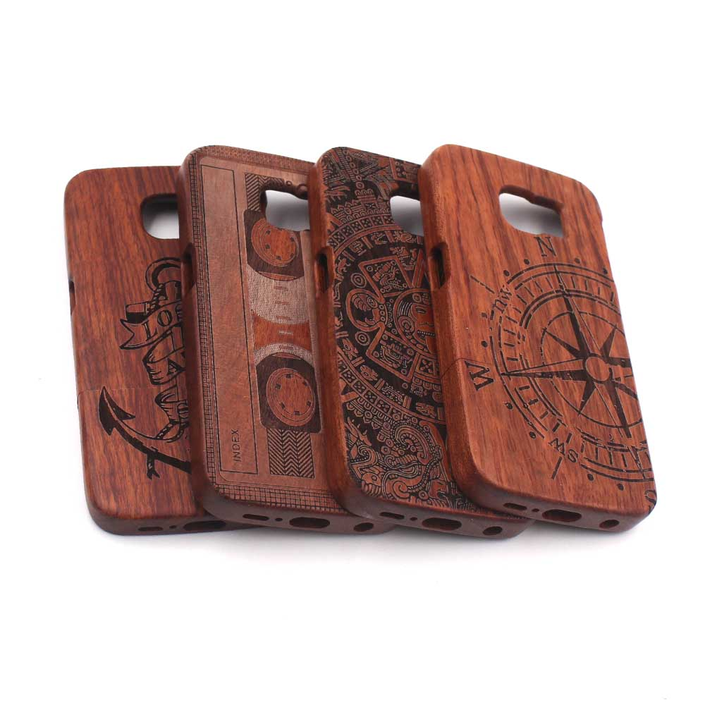 Wooden Bamboo Phone Case Protective Hard Case For Samsung Galaxy S7 S6 Edge Plus Note 5 4 Bamboo Carved 100% Natural Phone Case