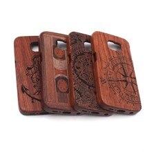 Деревянный бамбука чехол для телефона защитный футляр для Samsung Galaxy S7 S6 Edge Plus Примечание 5 4 Бамбук Резные 100% Натуральный чехол для телефона