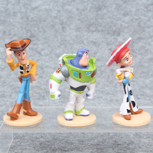 3pcs/set Toy Story 4 Woody  Buzz Lightyear Jessie 15cm Action Model Figure Toys Christmas gifts Free shipping