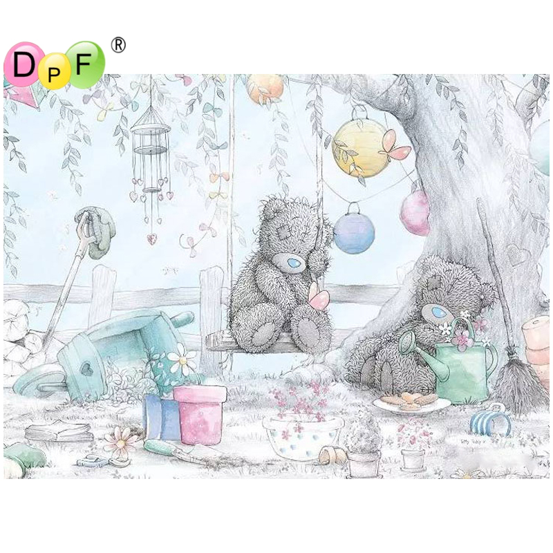 5D Diamond Painting pink bear DIY Craft Diamond Embroidery Cartoon Cross StitchN