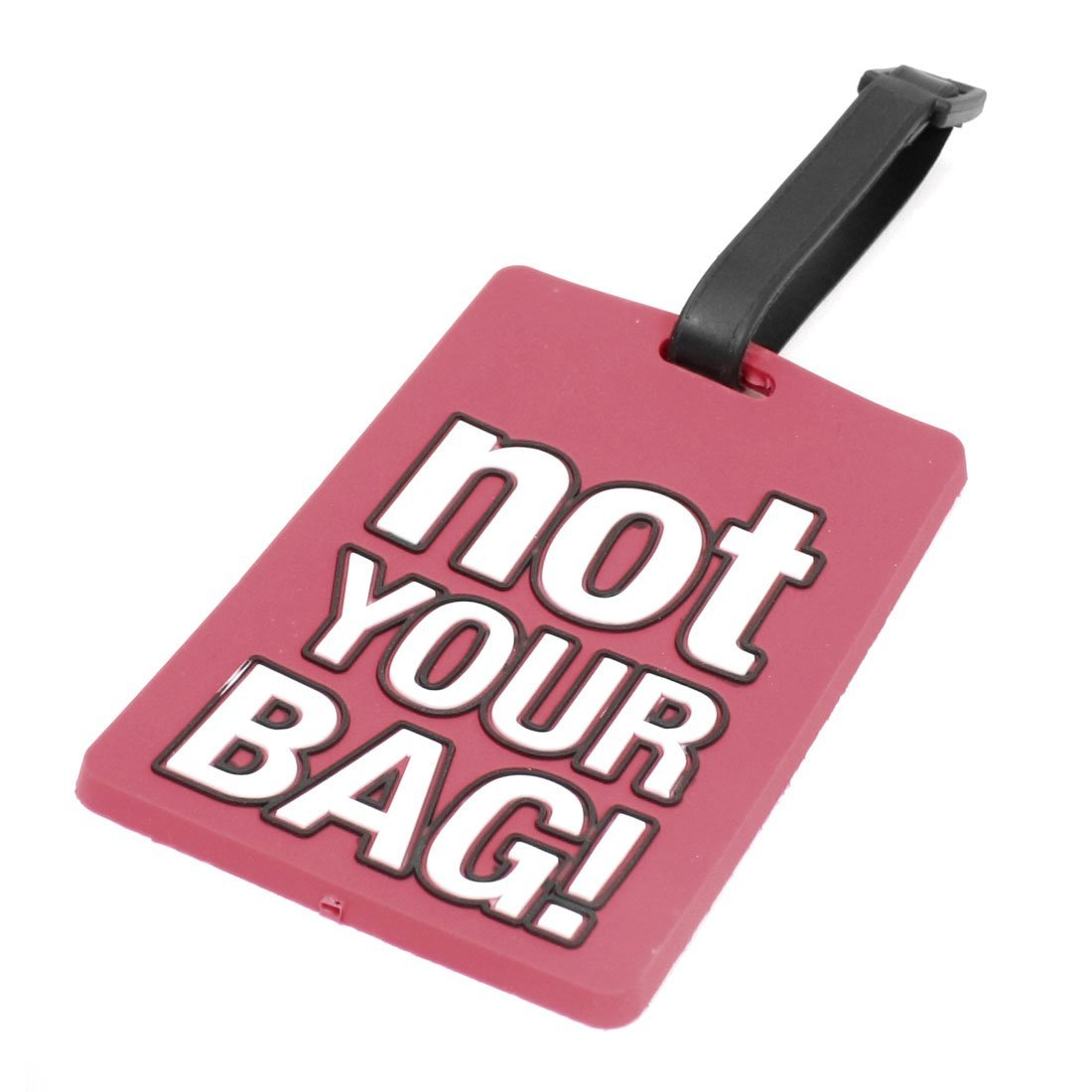 TEXU Name Address Label Watermelon Red Soft Plastic Not Your Bag Pattern vsen name address label blue soft plastic not your bag pattern luggage tag