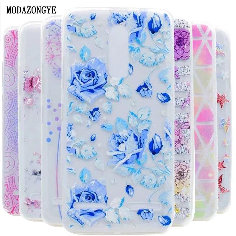 For Lenovo K6 Power Case 5.0 inch Luxury Flower Soft TPU Phone Case For Lenovo K6 Power  ...