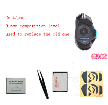 2set/pack Original Hotline Games Mouse Skate For Logitech G502 Teflon 0.6mm Competition Level Mouse Feet Mousepad