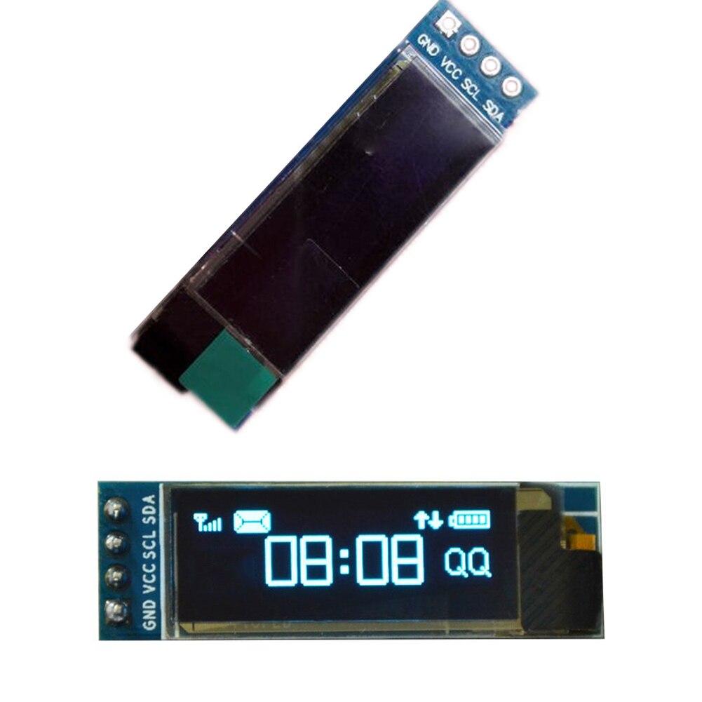 """Gotek OLED IIC I2C 0.91/"""" 128x32 white OLED LCD Display Module 3.3v-5v"""