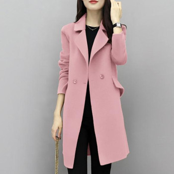 2019New Hot Sale Woman Wool Coat High Quality Winter Jacket Women Slim Woolen Long Cashmere Coats Cardigan Jackets Elegant Blend
