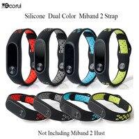 BOORUI-Correa de silicona para Xiaomi Mi band 2, accesorios de repuesto de colores para pulsera inteligente Mi band 2