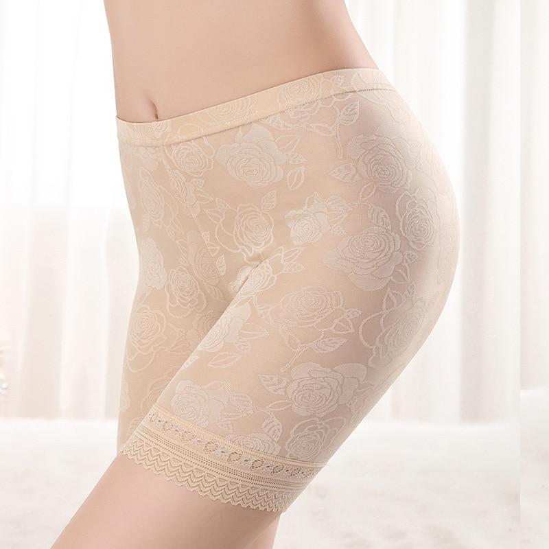 HW50 Women Plus Size XL-4XL Lace Safety Short Pants Lingerie Boxer Women Comfortable Panties Ropa Interior Femenina