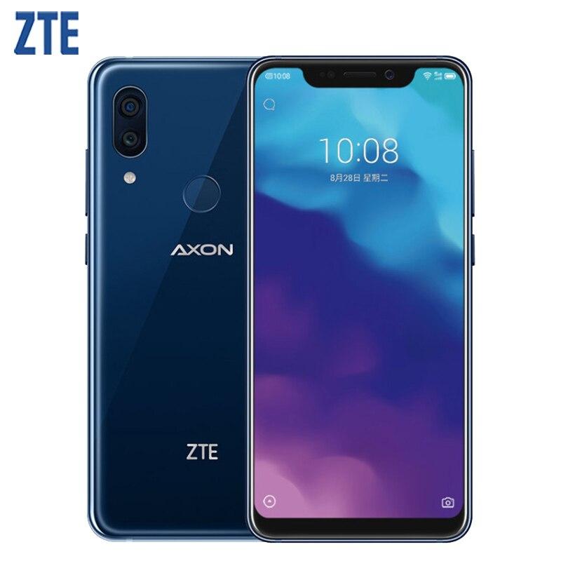 D'origine ZTE Axon 9 Pro IP68 Étanche Mobile Téléphone 6.21 pouce 8 gb RAM 256 gb ROM Snapdragon 845 Octa core 4000 mah NFC Smartphone