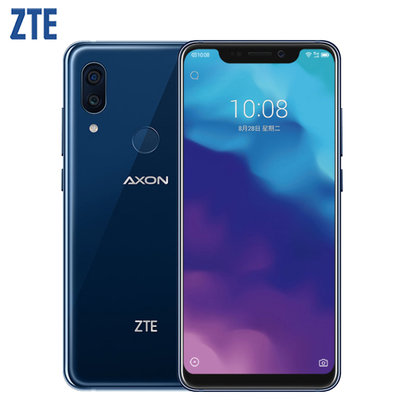 Original ZTE Axon 9 Pro IP68 impermeable del teléfono móvil 6,21 pulgadas 8 GB RAM 256GB ROM Snapdragon 845 Octa Core 4000 mAh Smartphone NFC