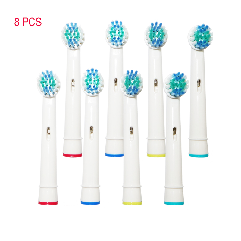 8PCS Electric Toothbrush Head Replacement For Oral-B Soft Hair Vitality Double Cleaning Professional Care OC18 OC20 D9511 3709 image