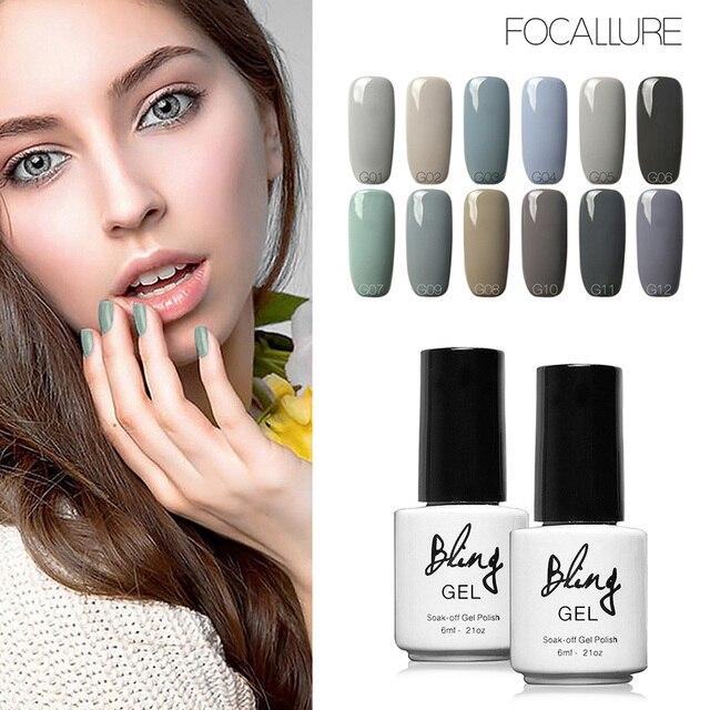 Bling Gray Series UV Nail Varnish 12 Colors Gel Polish Nail Gel ...