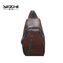 YIZHI mens Messenger Bag Leisure Waterproof Nylon Shoulder 2018 New Fashion Plus Earphone Hole