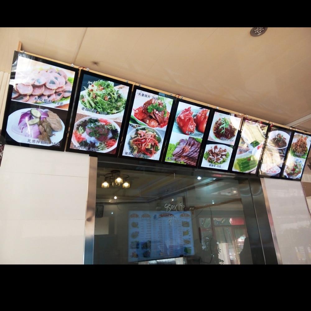 8pcs Fast Food Restaurant Led Backlit Menu Boards Mangetic