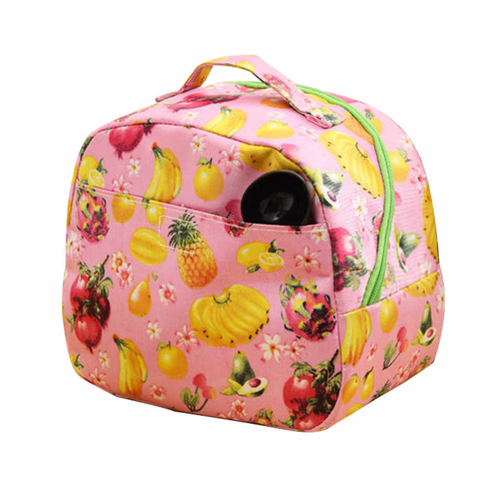 Cartoon Cute Lunch Bag For Women Girl Kids Children Thermal Insulated Lunch Box Tote Food Picnic Bag Milk Bottle Pouch 319W