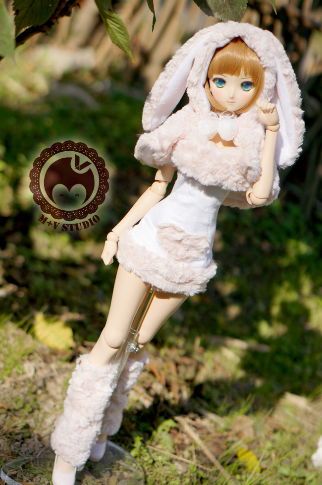 Pink Lovely Rabbit Suit Aminal Outfit for BJD 1/3 DD DY Girl Doll Clothes CW65 sweetie chocolate mousse european retro outfit dress suit for bjd doll 1 6 yosd doll clothes lf9