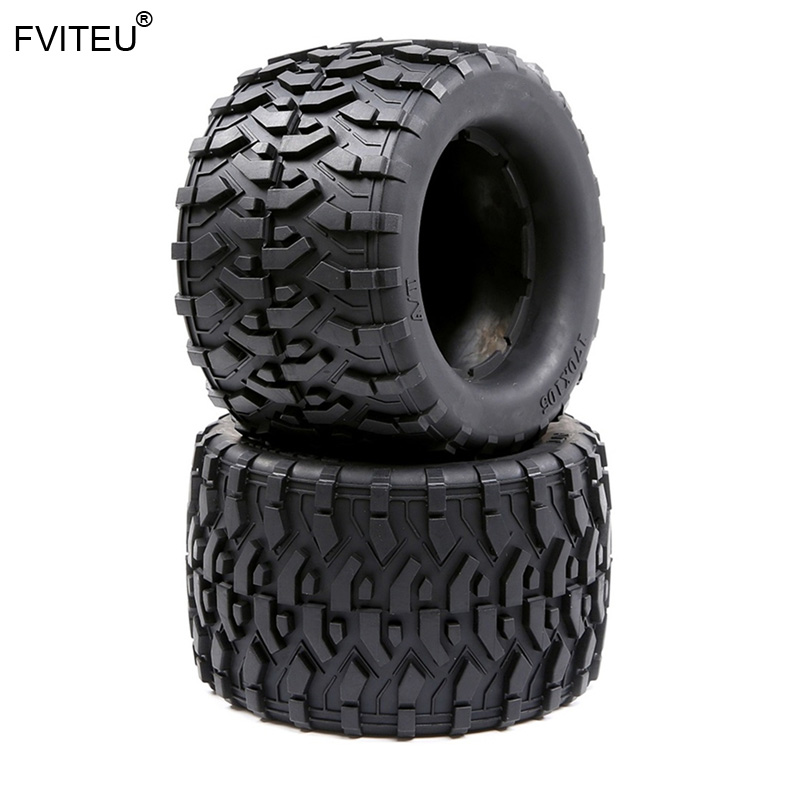 Rubber All Terrain Tires Tyre Kit(170mmX105mm) fit 1/8 HPI Racing savage XL FLUX Rovan TORLAND MONSTER BRUSHLESS TRUCK PARTS image