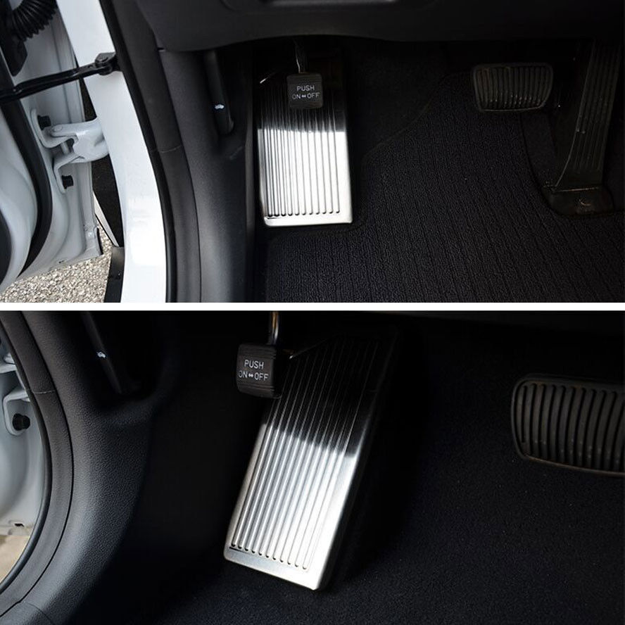 Stainless Car Styling Brake Footrest Foot Rest Plate Dead Pedal Pad Cover Trim Sticker Fit For Hyundai Tucson 2015 16 Car Decal in Interior Mouldings from Automobiles Motorcycles