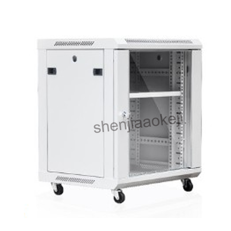 12U Thickened high quality cold rolled steel Cabinet Network Cabinet wall-mounted exchange Cabinet 0.6m Weak Vertical Cabinet