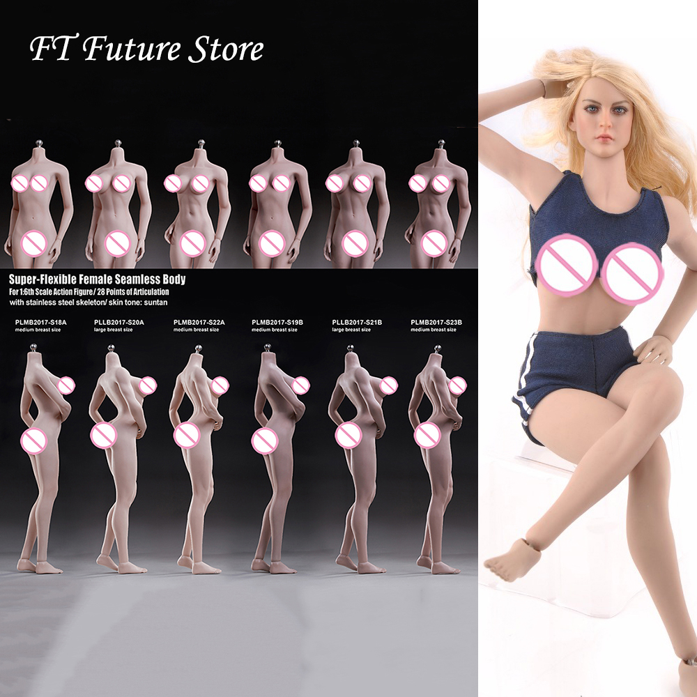 S20a/s22a/s23b/s18a/s19b/s21b corpo sem emenda super-flexível do corpo feminino da escala 1/6 para a figura de ação 12 figure figure