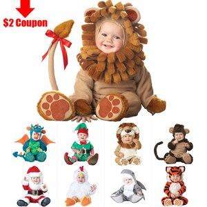 Image 3 - 2020 카니발 할로윈 의상 아기 소년 소녀 의상 동물의 코스프레 rompers 점프 슈트 유아 유아 의류