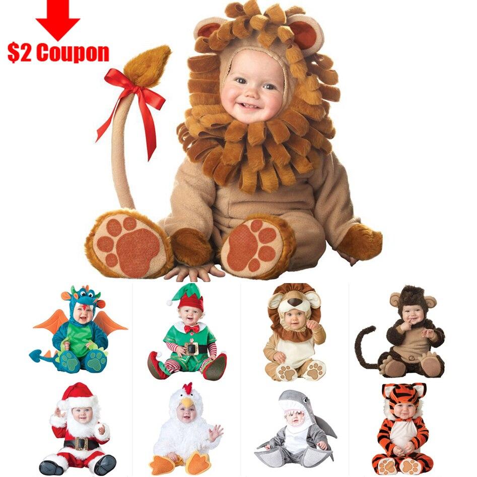 Image 2 - 2020 קרנבל ליל כל הקדושים תלבושות תינוק בני בנות תלבושות בעלי החיים קוספליי Rompers סרבל פעוטות תינוקות בגדיםinfant clothesjumpsuit toddlerbaby boy girl -