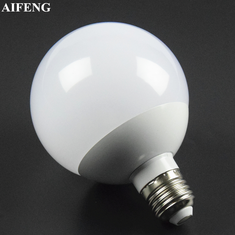 AIFENG E27 Led Bulb 360 Degree Globe Bulb 12W Dimmable Bubble Ball Bulb SMD 5730 A90 Spotlight For Home Chandelier Pendant Light