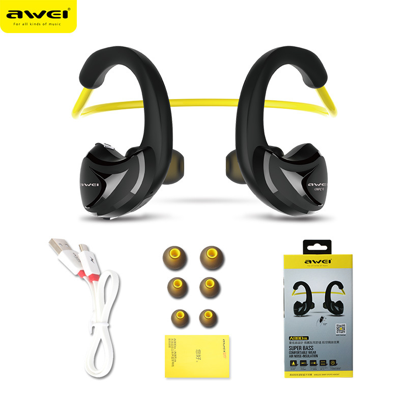 Sport earphones Awei A880BL Wireless Sports Earphones headphone Bluetooth V4.0 Earhook headset For Mobile phone
