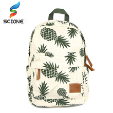 2017 Hot Special Designed Backpack Pineapple Printing School Bags For Teenager Girls Book bags Travel Bag Laptop Rucksack