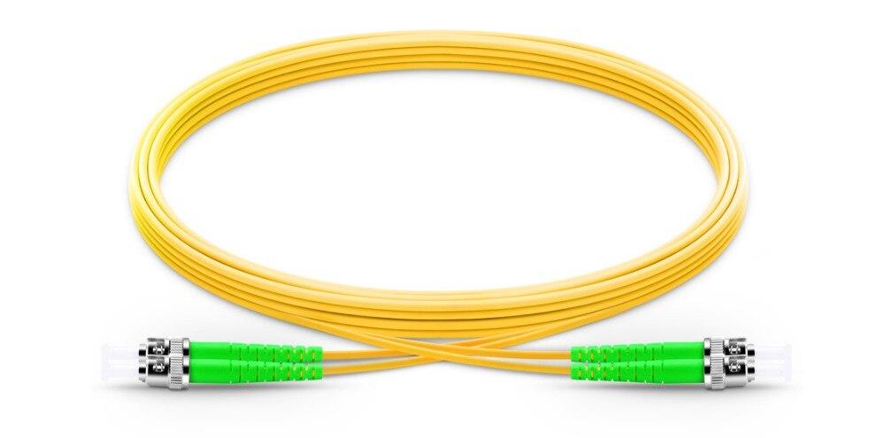 FirstFiber 15m  ST APC To ST APC G657A 2 Cores Duplex Fiber Patch Cable, Jumper, Patch Cord 2.0mm PVC OS2 SM Bend Insensitive