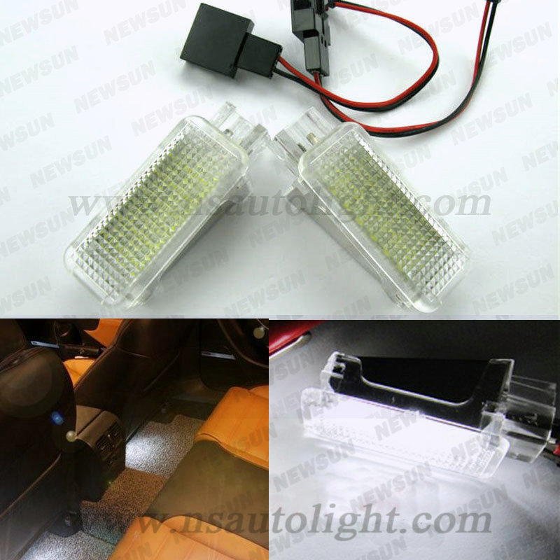 Factory price auto footwell lamp led luggage light for VW Golf Jetta Passat CC Polo Scirocco Eos Tiguan Touareg Caddy led краска matrix color sync 10m очень очень светлый блондин мокка 90мл