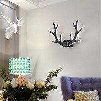 Nordic Creative Deer Design Led Wall Light Art Romantic Bedroom Bar Kitchen Livingroom Study Wall Sconce Free Shipping