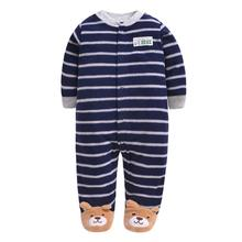 цена на Autumn Baby Rompers Christmas Baby Boy Clothes Newborn Clothing Polar Fleece Baby Girl Clothes Roupas Bebe Infant Baby Jumpsuits