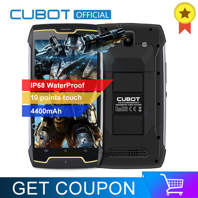 Cubot KingKong IP68 Waterproof Smartphone Dustproof Shockproof Cellular 5.0 Inch