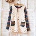Плюс Бархат Материнства Майка Тис Весна и Осень Беременность Блузка С Длинным Рукавом Рубашки Одежда для Беременных Женщин B271