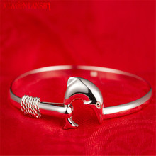 XIAONIANSHI Elegant Simple Single Line Classic Dolphine Bangles Silver Plated High Quality Fashion Bracelets&Bangles For women