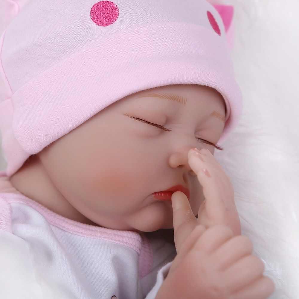 NPK Neue Ankunft 22 zoll Reborn Baby Puppe Wirklichen Leben Wie Reborn Puppe Baby mädchen Realistische Handgemachte Baby Puppe Kleinkind weihnachten Spielzeug Geschenk