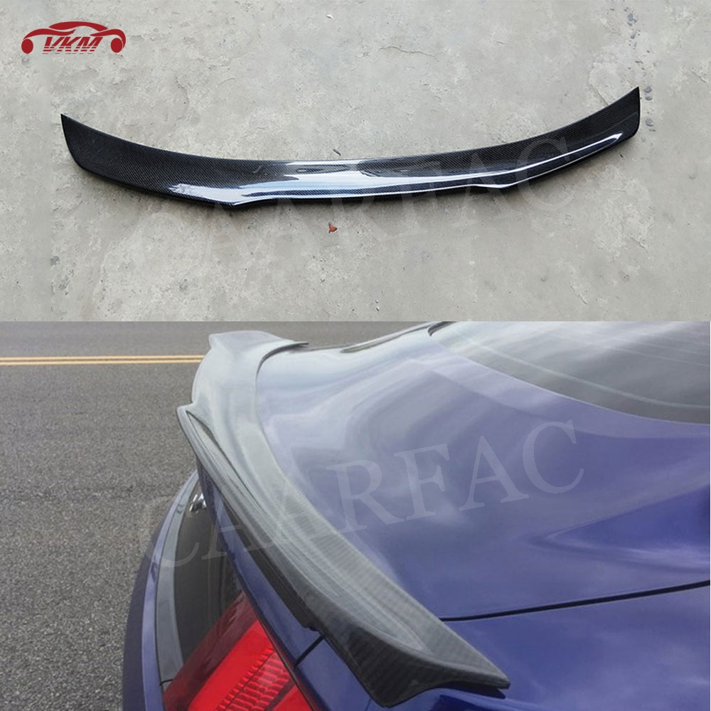 For Ford <font><b>Mustang</b></font> ABS plastic Rear Trunk Spoiler <font><b>2015</b></font> 2016 2017 Carbon Fiber Boot <font><b>Wings</b></font> B Style Auto Racing Car Styling image