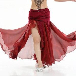 Image 4 - Women Belly dance costume lady bellydancing skirt 2 layer mesh skirt sexy bellydance wrap skirt performance dancewear