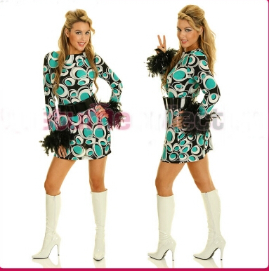 plus size 4XL retro costume 60s 70s Abba Retro Hippie Girl Disco Dancing Costume Fancy Dress with belt s 4xl-in Sexy Costumes from Novelty u0026 Special Use on ...  sc 1 st  AliExpress.com & plus size 4XL retro costume 60s 70s Abba Retro Hippie Girl Disco ...