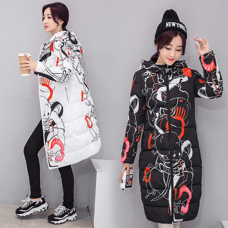 Women Hooded Pattern Printed Jacket&Coat 96% Cotton Padded Russia Winter Warm Windproof Outwear Slim Fashion Female StreetMY0078 5v 2 channel ir relay shield expansion board module for arduino with infrared remote controller
